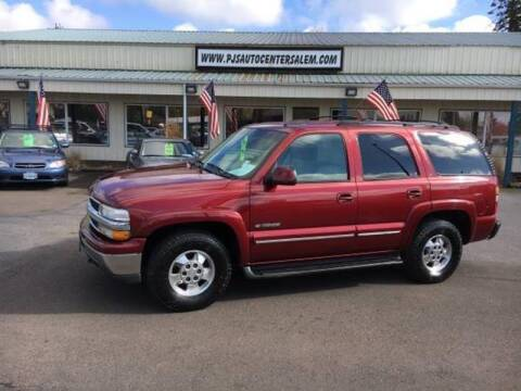 2002 Chevrolet Tahoe for sale at PJ's Auto Center in Salem OR
