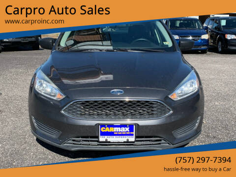 2015 Ford Focus for sale at Carpro Auto Sales in Chesapeake VA