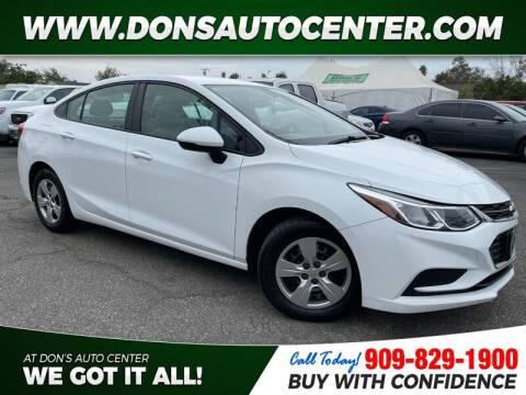 2017 Chevrolet Cruze for sale at Dons Auto Center in Fontana CA