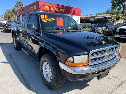 2001 Dodge Dakota for sale at 3K Auto in Escondido CA
