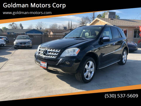 2009 Mercedes-Benz M-Class for sale at Goldman Motors Corp in Stockton CA