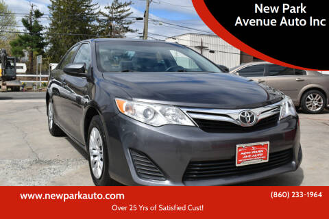 2014 Toyota Camry for sale at New Park Avenue Auto Inc in Hartford CT