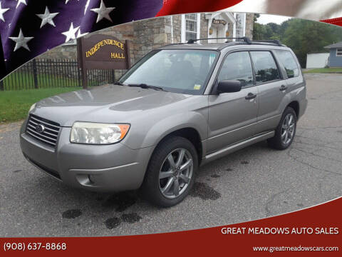 2006 Subaru Forester for sale at GREAT MEADOWS AUTO SALES in Great Meadows NJ