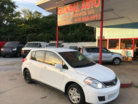 2012 Nissan Versa for sale at Global Auto Sales and Service in Nashville TN
