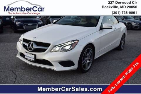 2014 Mercedes-Benz E-Class for sale at MemberCar in Rockville MD