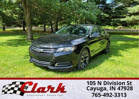 2016 Chevrolet Impala for sale at Clark Chevrolet in Cayuga IN