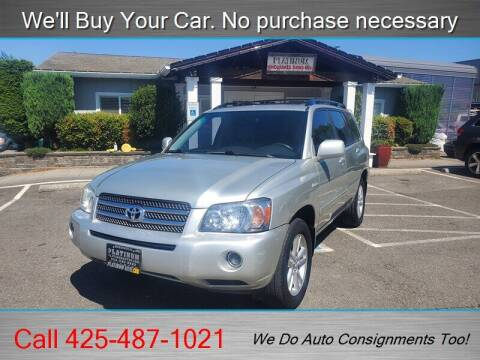 2006 Toyota Highlander Hybrid for sale at Platinum Autos in Woodinville WA