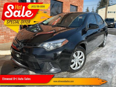 2016 Toyota Corolla for sale at Elmwood D+J Auto Sales in Agawam MA