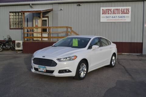 2013 Ford Fusion for sale at Dave's Auto Sales in Winthrop MN