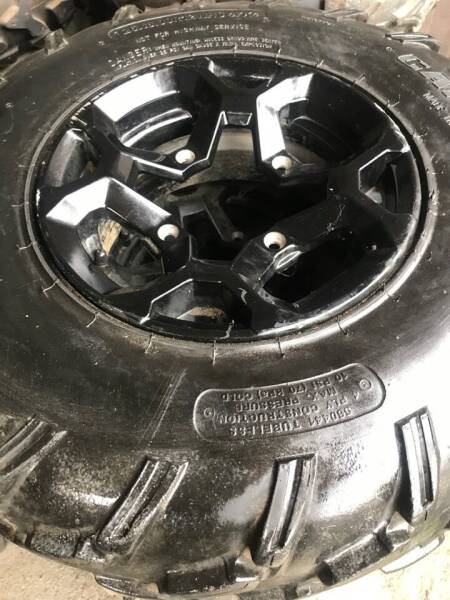 2019 USED ATV TIRE N WHEEL COMBO CANAM -ARTIC CAT- POLARIS -ETC for sale at Tony's Ticonderoga Sports in Ticonderoga NY