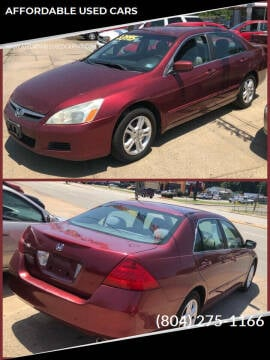 2006 Honda Accord for sale at AFFORDABLE USED CARS in Richmond VA