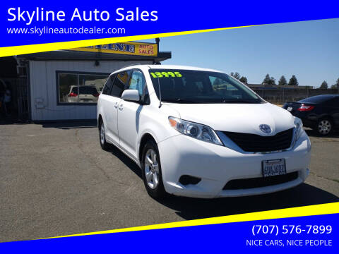2012 Toyota Sienna for sale at Skyline Auto Sales in Santa Rosa CA