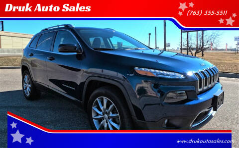 2018 Jeep Cherokee for sale at Druk Auto Sales in Ramsey MN