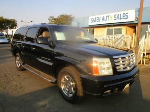 2004 Cadillac Escalade ESV for sale at Salem Auto Sales in Sacramento CA