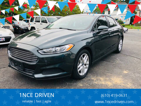 2015 Ford Fusion for sale at 1NCE DRIVEN in Easton PA