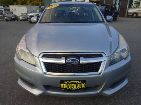 2013 Subaru Legacy for sale at MOUNTAIN VIEW AUTO in Lyndonville VT