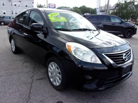 2012 Nissan Versa for sale at Sam's Auto Sales in Cranston RI
