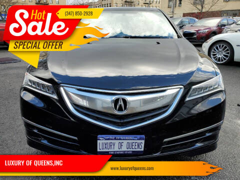 2016 Acura TLX for sale at LUXURY OF QUEENS,INC in Long Island City NY