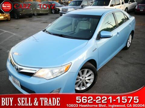 2012 Toyota Camry Hybrid for sale at Carz 4 Toyz in Inglewood CA
