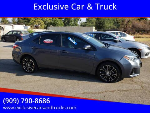 2014 Toyota Corolla for sale at Exclusive Car & Truck in Yucaipa CA