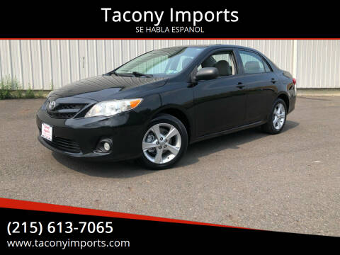 2011 Toyota Corolla for sale at Tacony Imports in Philadelphia PA