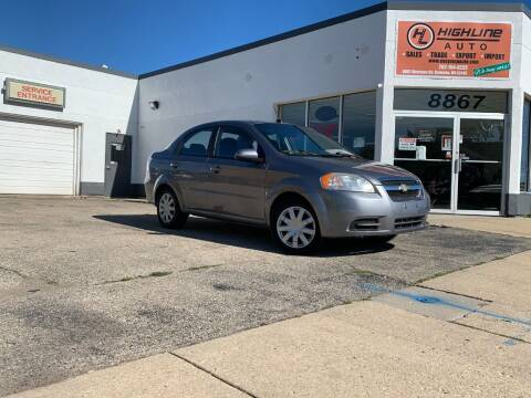 2009 Chevrolet Aveo for sale at HIGHLINE AUTO LLC in Kenosha WI
