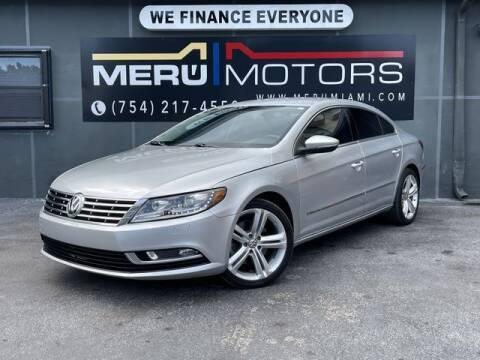 2013 Volkswagen CC for sale at Meru Motors in Hollywood FL