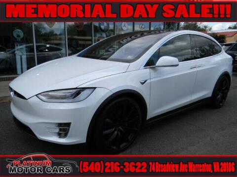 2017 Tesla Model X for sale at Platinum Motorcars in Warrenton VA