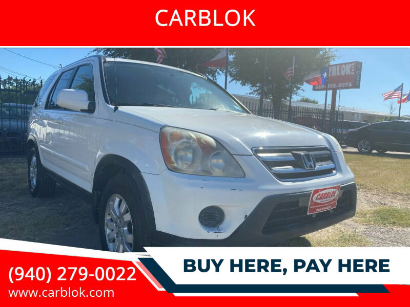 2005 Honda CR-V for sale at CARBLOK in Lewisville TX