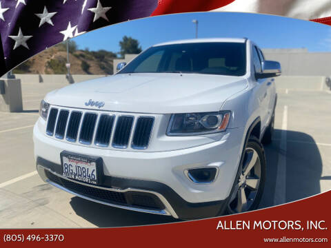 2014 Jeep Grand Cherokee for sale at Allen Motors, Inc. in Thousand Oaks CA