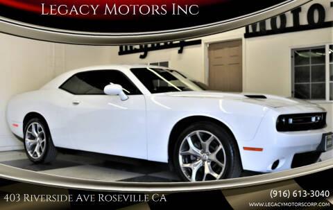 2015 Dodge Challenger for sale at Legacy Motors Inc in Roseville CA