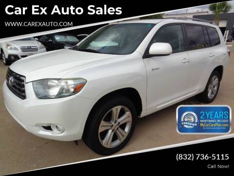 2008 Toyota Highlander for sale at Car Ex Auto Sales in Houston TX