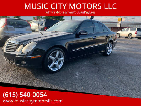 2007 Mercedes-Benz E-Class for sale at MUSIC CITY MOTORS LLC in Nashville TN