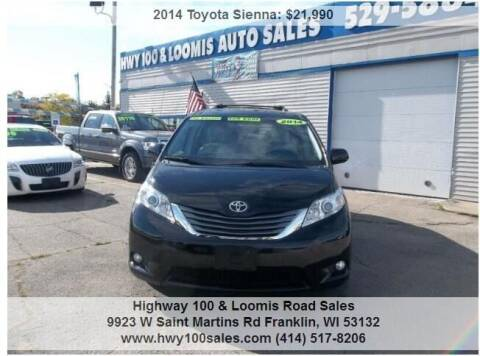 2014 Toyota Sienna for sale at Highway 100 & Loomis Road Sales in Franklin WI