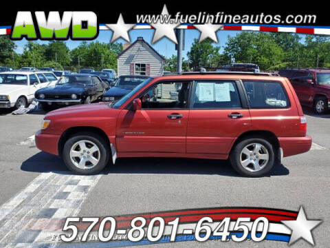 2002 Subaru Forester for sale at FUELIN FINE AUTO SALES INC in Saylorsburg PA