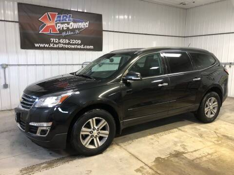 2015 Chevrolet Traverse for sale at Karl Pre-Owned in Glidden IA