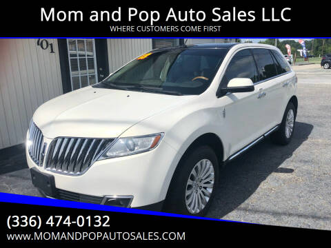 2013 Lincoln MKX for sale at Mom and Pop Auto Sales LLC in Thomasville NC