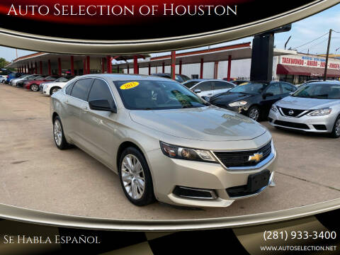 2015 Chevrolet Impala for sale at Auto Selection of Houston in Houston TX