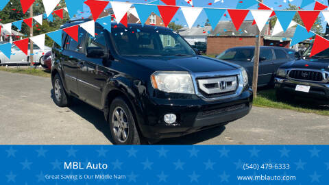2011 Honda Pilot for sale at MBL Auto in Fredericksburg VA