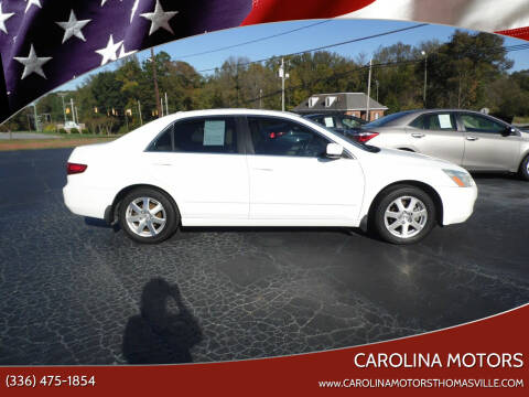 2005 Honda Accord for sale at CAROLINA MOTORS in Thomasville NC