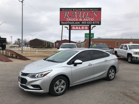 2018 Chevrolet Cruze for sale at RAUL'S TRUCK & AUTO SALES, INC in Oklahoma City OK