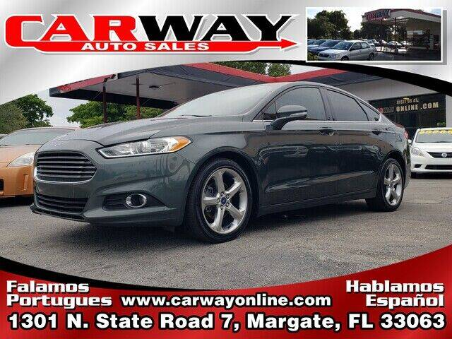 2015 Ford Fusion for sale at CARWAY Auto Sales in Margate FL