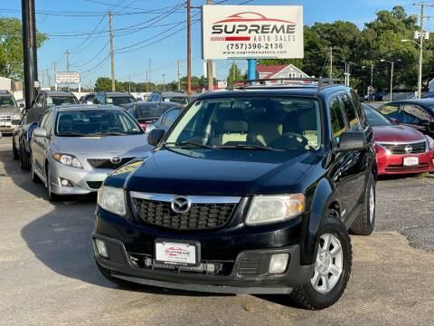 2008 Mazda Tribute for sale at Supreme Auto Sales in Chesapeake VA