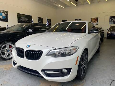 2015 BMW 2 Series for sale at GCR MOTORSPORTS in Hollywood FL
