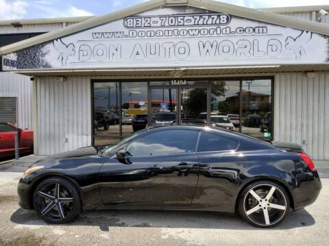2008 Infiniti G37 for sale at Don Auto World in Houston TX