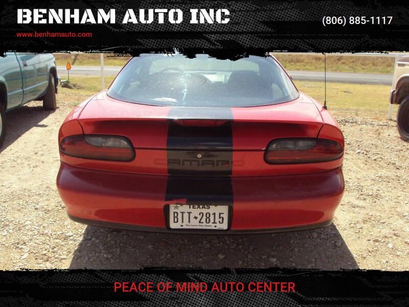 1994 Chevrolet Camaro for sale at BENHAM AUTO INC in Lubbock TX