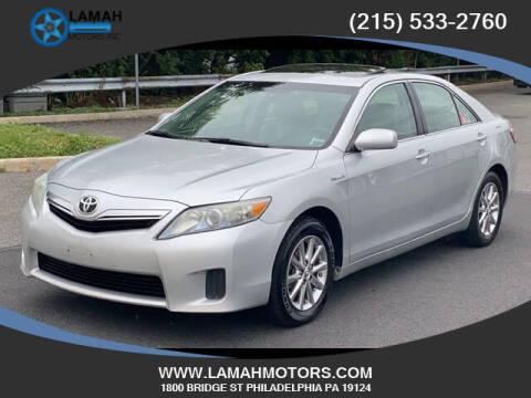 2011 Toyota Camry Hybrid for sale at LAMAH MOTORS INC in Philadelphia PA
