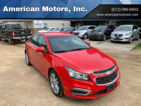 2015 Chevrolet Cruze for sale at American Motors, Inc. in Farmington MN