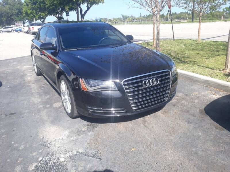 2014 Audi A8 L for sale at LAND & SEA BROKERS INC in Deerfield FL
