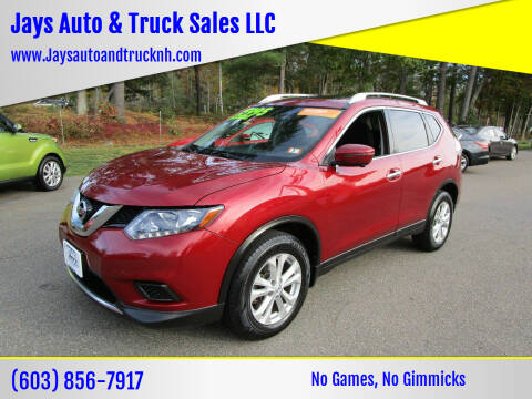 2016 Nissan Rogue for sale at Jays Auto & Truck Sales LLC in Loudon NH